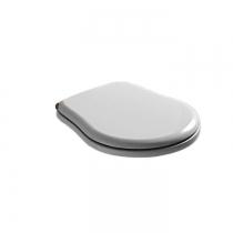 KERASAN Retro Сиденье для унитаза цвет белый/бронза (микролифт)