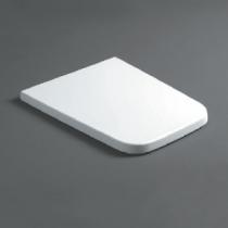 Simas Degrade Cидение для унитазов укороченных DE21/28, цвет белый/шарниры хром (микролифт)