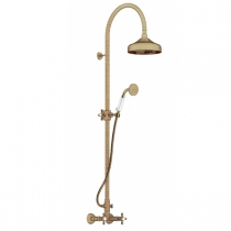 Gattoni Vivaldi Душевая стойка с верхним душем со смесителем, цвет бронза