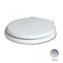 AZZURRA Giunone-Jubilaeum сиденье для унитаза белое, шарниры хром (микролифт)