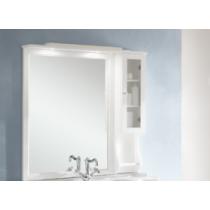 EBAN Singolo DX Зеркало в раме со шкафчиком правым, цвета: bianco decape.