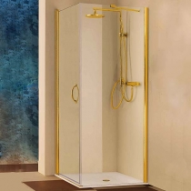 Samo FDT Душевое ограждение 86-88хh190, золото, прозрачное стекло