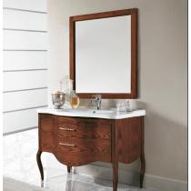 EBAN Sonia Комплект мебели, с ручками, с раковиной и зеркалом, 108 см, Цвет: Noce