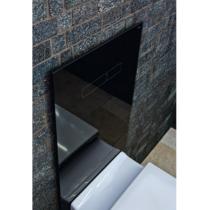 Комплект TECELux для установки унитаза -биде (DURAVIT) с верхней панелью из черного стекла с механическим блоком управления  и нижней панелью стекло черное