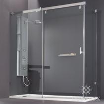 Huppe Vista Раздвижная дверь 1-секционная с неподвижным сегментом и боковой стенкой 080526