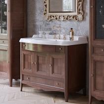 TW Veronica Nuovo комплект мебели с 3-мя выдвижными ящиками и 3-мя дверцами, с доводчиком Blum, ручки бронза, 105см, Цвет: noce