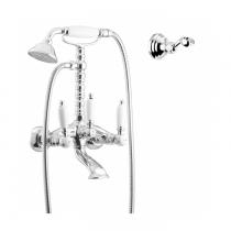 Gattoni  Vivaldi Lever Смеситель для ванны с низким держателем, с душевой лейкой и шлангом, цвет хром