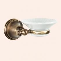 TW Harmony 106, подвесная мыльница, керамическая белая, цвет держателя: бронза