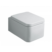 SIMAS Flow Комплект  унитаз подвесной 36х50см, цвет белый с креплением F85 и сиденьем  белым петли хром/микролифт
