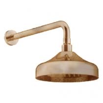 Gattoni PD Верхний душ D=200мм с держателем из стены 349 мм до центра, цвет бронза