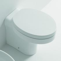 KERASAN Cento унитаз овальный приставной,слив в стену,цвет белый с сиденьем овальным на выбор