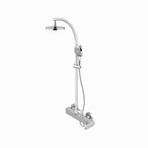 Gattoni H2Omix1000 Душевая стойка с верхним душем со смесителем, цвет хром