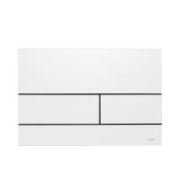 TECEsquare II Панель смыва, металл, цвет белый матовый