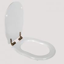 TW Bristol Сиденье для напольного унитаза, цвет белое/бронза, (микролифт)