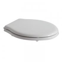 GLOBO Paestum Сиденье для унитаза, полиэстр, цвет белый/хром, микролифт