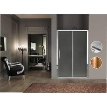 SAMO Impero Дверь в нишу/для боковой стены 116-122хh200cм, профиль и ручка бронза, стекло прозрачное + StarClean