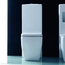 Kerasan Ego унитаз приставной 53см, белый с напольным бачком с механизмом и сиденьем на выбор