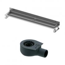 Tece drainline, Комплект для установки дренажного канала 800 мм из нержавеющей стали, для пристенного монтажа