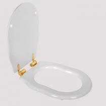 TW Bristol Сиденье для напольного унитаза, цвет белое/золото, (микролифт)