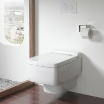 TOTO SG Унитаз подвесной 390x582x339 мм, безободковый, CeFiONtect, Tornado Flush цвет: белый с пластиковой панелью цвет белый