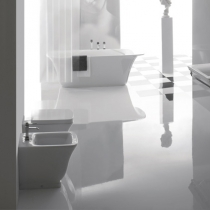 GLOBO Relais Унитаз напольный 56*36*h43см, слив в стену,с белым сиденьем на выбор, механизм хром