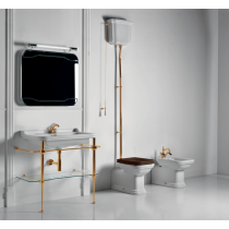 KERASAN Waldorf Консоль с раковиной 100 см цвета консоли: oro (золото)