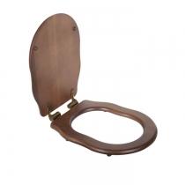 TW Bristol Сиденье для напольного унитаза, цвет орех/бронза, (микролифт)