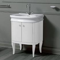 SIMAS Lante Комплект мебели, тумба с двумя дверцами, раковиной, 70см, зеркало Цвет: bianco