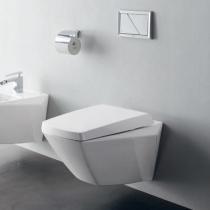TOTO Jewelhex Унитаз подвесной 452x560x332 мм, CeFiONtect, цвет: белый с сиденьем и манжетой