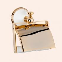 TW Harmony 219, держатель для т/б с крышкой, цвет держателя: белый/золото
