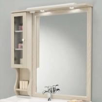 EBAN Singolo SX Зеркало в раме со шкафчиком левым, цвет: pergamon