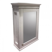EBAN Зеркальный шкаф 58х20х84h см, с 2мя полочками, 1 дверца с плавным закрыванием, DX (петли справа) , цвет: bianco decape
