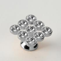 EBAN 9 Strass, ручка-кнопка для мебели, цвет: Swarovski хром