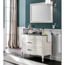 EBAN Rachele Комплект мебели с зеркалом  Aurora, со столешницей и встроенной раковиной, 108см, Цвета: BIANCO PERLATO