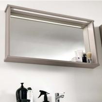 EBAN Mina Зеркало 115*12*54h с полкой и LED-подсветкой цвет: pergamon