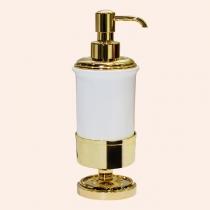 TW Bristol 180, настольный дозатор, керамический (белый), цвет держателя: золото