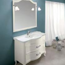 EBAN Rachele Комплект мебели с зеркалом Sagomata, 95см, Цвет: BIANCO PERLATO