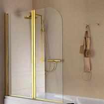 SAMO FDT Штора на ванну 105-107хh140cм, SX/DX, проф. золото, прозрачное стекло