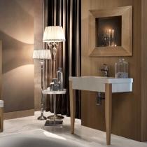 KERASAN Bentley Комплект мебели, (раковина без бортика), с ножками , Цвет: hemlock (светлое дерево).
