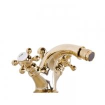 Gattoni Vivaldi Смеситель для биде с донным клапаном, высота излива 80мм, цвет золото 24кт