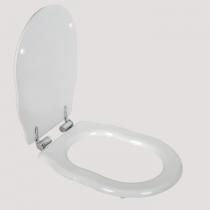 TW Bristol Сиденье для напольного унитаза, цвет белое/хром, (микролифт)