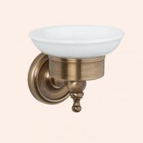 TW Bristol 106, подвесная мыльница, керамическая (белый), цвет держателя: бронза