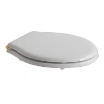 GLOBO Paestum Сиденье для унитаза, полиэстр, цвет белый/золото, микролифт