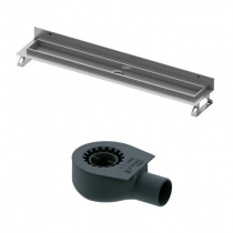 Tece drainline, Комплект для установки дренажного канала 700 мм из нержавеющей стали, для пристенного монтажа, с лотком под плитку