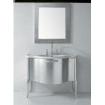 GLOBO Paestum Комплект мебели, 1 выдв. ящик, ручка хром, 110*60*h80,5см, Цвет: foglio argento