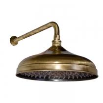 Gattoni PD Верхний душ классика кругл. D=300mm с настенным держателем 349mm, цвет бронза