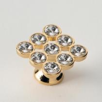 EBAN 9 Strass, ручка-кнопка для мебели, цвет: Swarovski золото