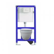 GSI-SANIT Готовое решение с подвесным унитазом Classic, инсталляцией и крепежом. Сиденье и клавиша заказываются отдельно