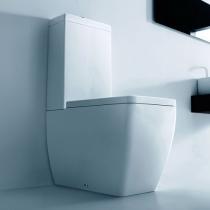 Kerasan Ego Унитаз моноблок,белый,слив в стену, с бачком, механизмом двойного слива и белым сиденьем на выбор