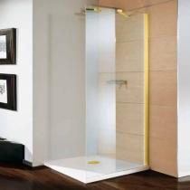 SAMO FDT Боковая стенка 900х1900мм, проф. золото, прозрачное стекло